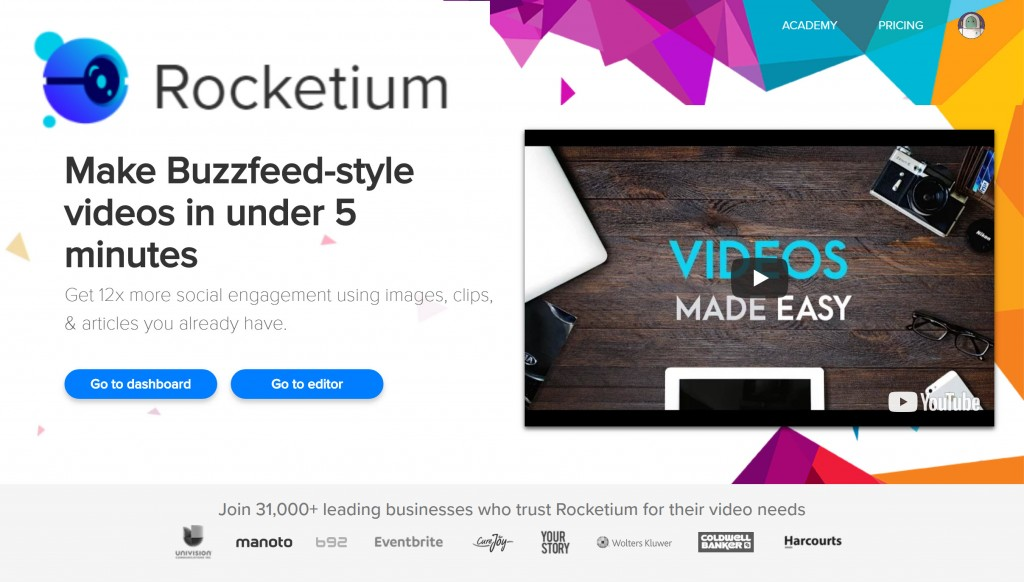 Rocketium - Cloud Video Maker